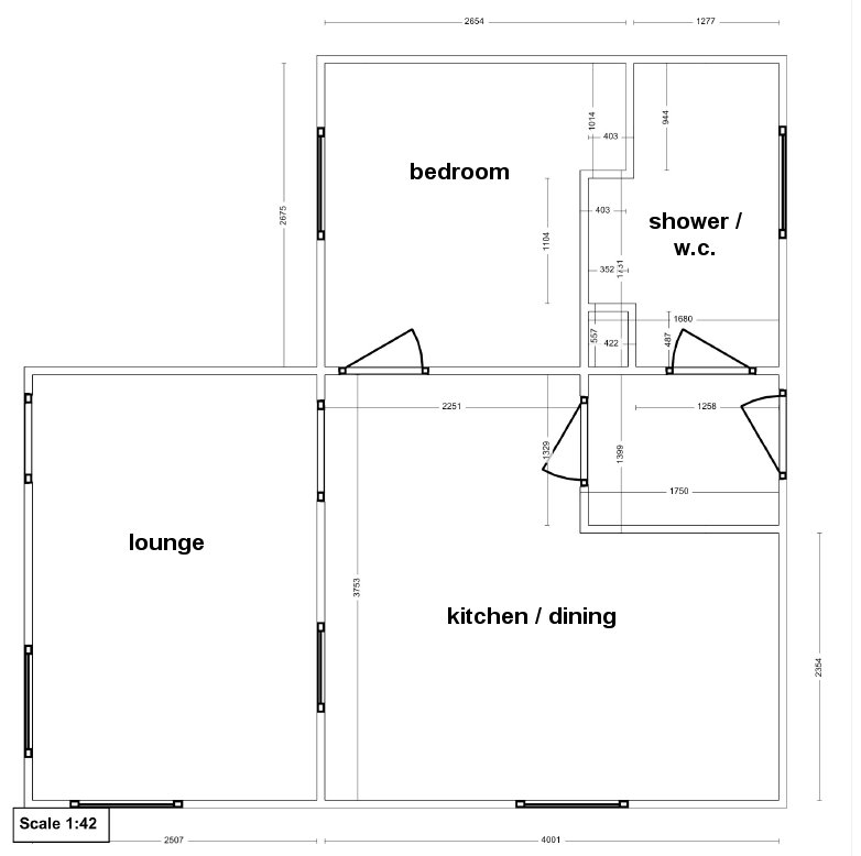 Stable Cottage Interior Floor Plan